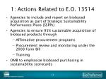 1 actions related to e o 13514