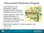 procurement preference program