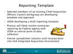 reporting template