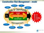 construction risk management model