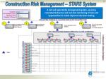 construction risk management stars system
