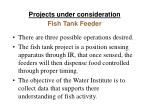 projects under consideration1