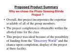 proposed product summary2