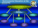 environmental education at the university