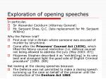 exploration of opening speeches