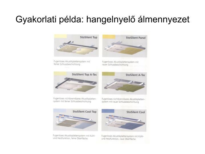Gyakorlati példa: hangelnyelő álmennyezet