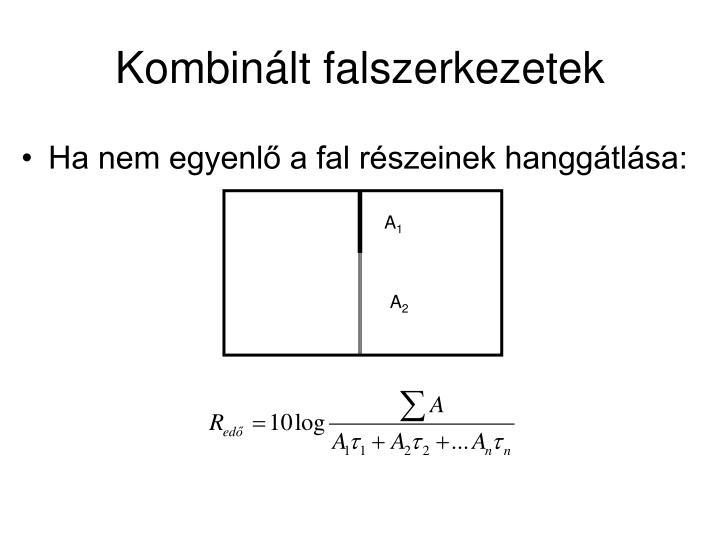 Kombinált falszerkezetek