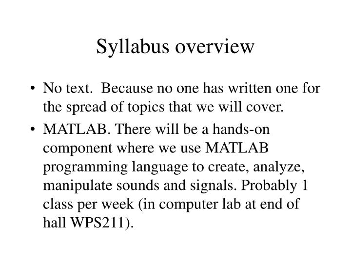 syllabus overview n.