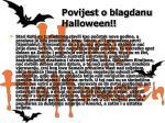 povijest o blagdanu halloween