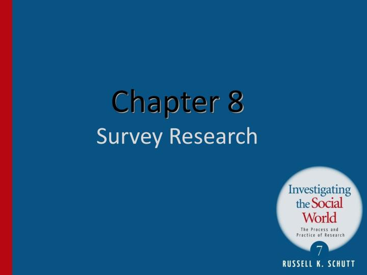 chapter 8 survey research n.