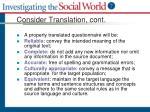 consider translation cont