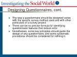 designing questionnaires cont