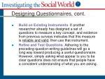 designing questionnaires cont1