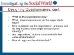 designing questionnaires cont3