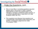 order the questions cont1