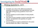 writing questions cont