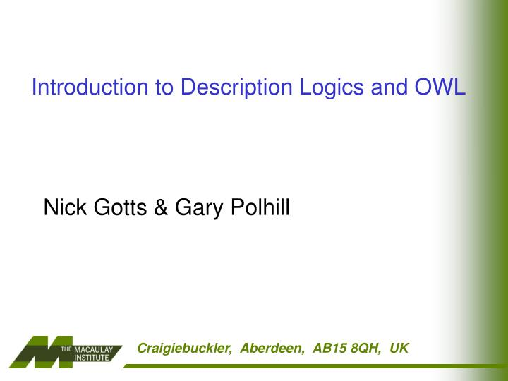 introduction to description logics and owl n.