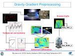 gravity gradient preprocessing