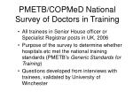 pmetb copmed national survey of doctors in training