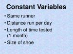 constant variables1