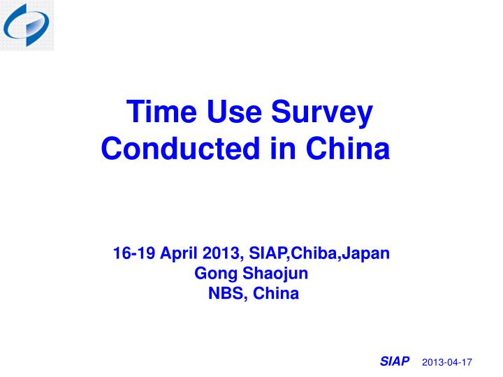 t ime use survey conducted in china n.
