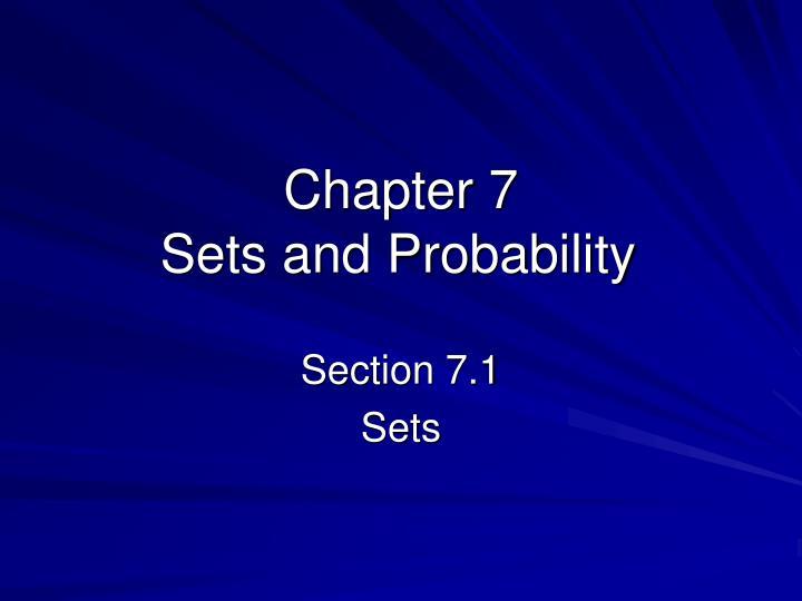 chapter 7 sets and probability n.