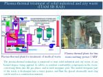 plasma thermal treatment of solid industrial and city waste itam sb ras