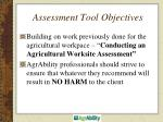 assessment tool objectives