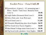 toolkit price total 65 39