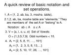 a quick review of basic notation and set operations