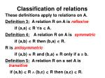 classification of relations
