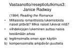 vastaanotto reseptiotutkimus3 janice radway