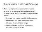 risorse umane e sistema informativo