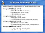 business size designations