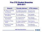 five cts student branches 2010 2011