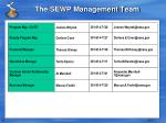 the sewp management team