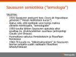saussuren semiotiikka semiologia