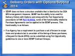 delivery orders with options beyond 2014