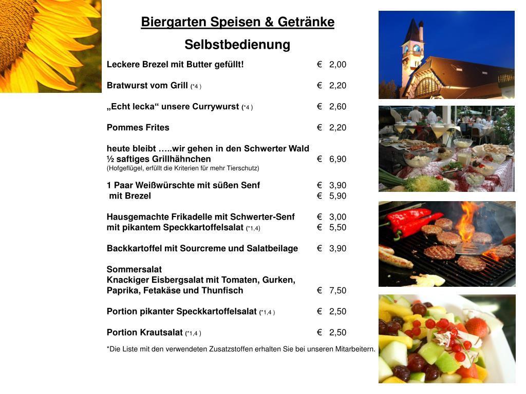 PPT - Biergarten Speisen & Getränke Selbstbedienung PowerPoint ...