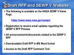 draft rfp and sewp v website