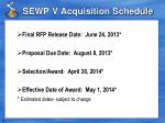 sewp v acquisition schedule