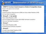 sewp v determination of sewp groups