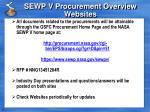 sewp v procurement overview websites