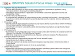 ibm pss solution focus areas