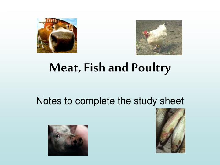 meat fish and poultry n.