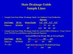 state drainage guide sample lines