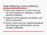 post filtering non uniform1