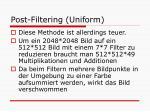 post filtering uniform1