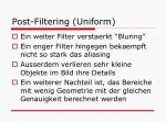 post filtering uniform2
