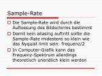 sample rate1